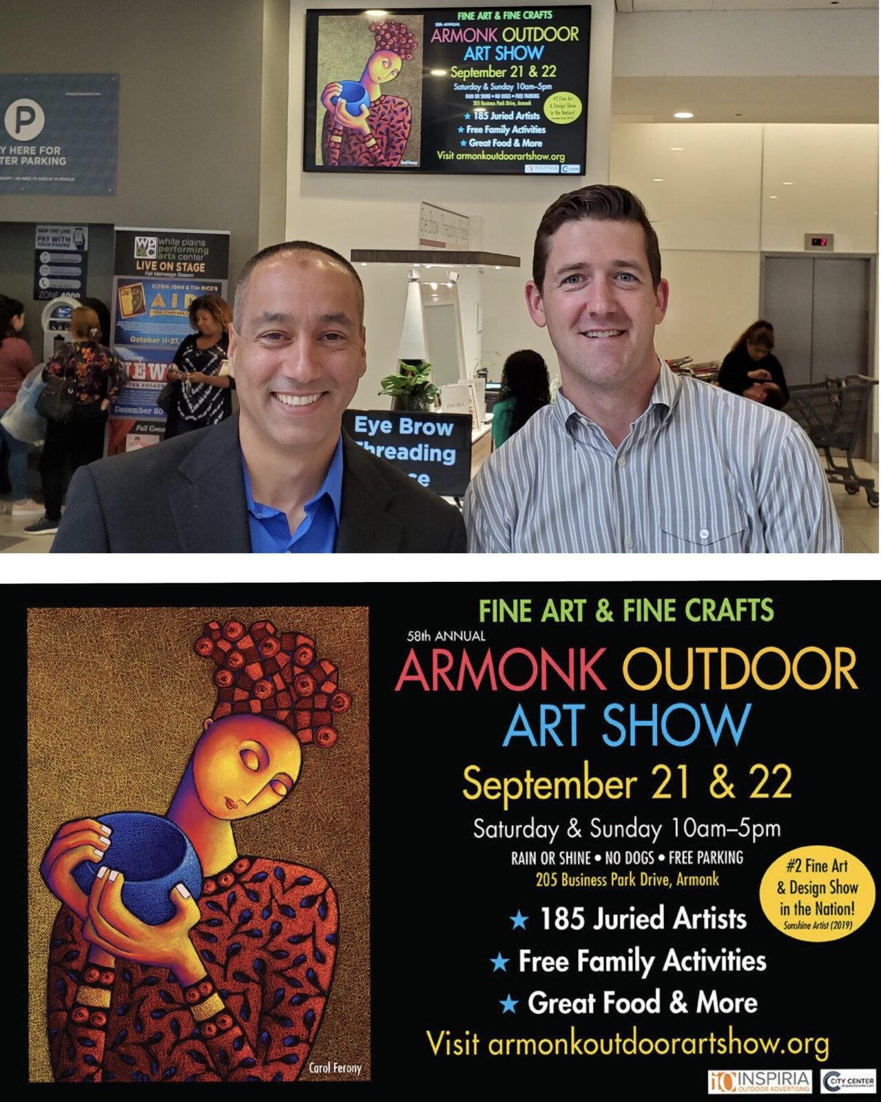 Inspiria Outdoor Advertises For Outdoor Art Show