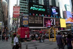 Inspiria Outdoor Times Square Advertising It Starts With Us Unit 130