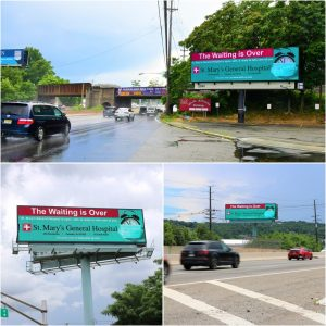 St Mary's Hospital New Jersey Digital Billboard Advertising Campaign