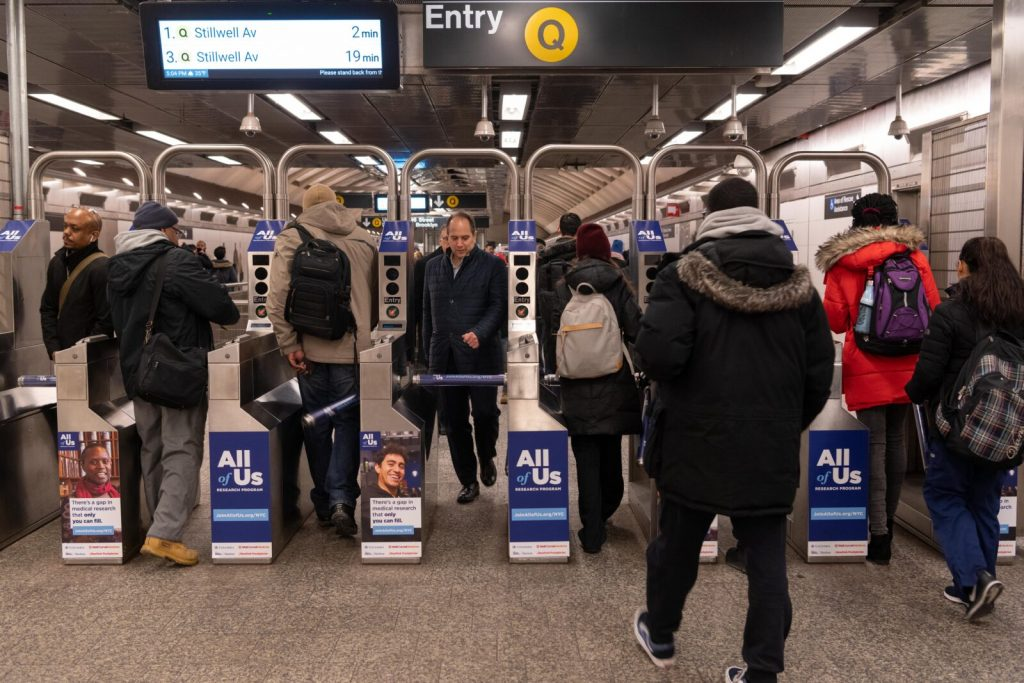 All of Us Research Subway Turnstile Advertising