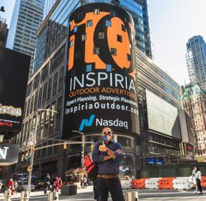 Inspiria Outdoor NASDAQ Times Square Advertising