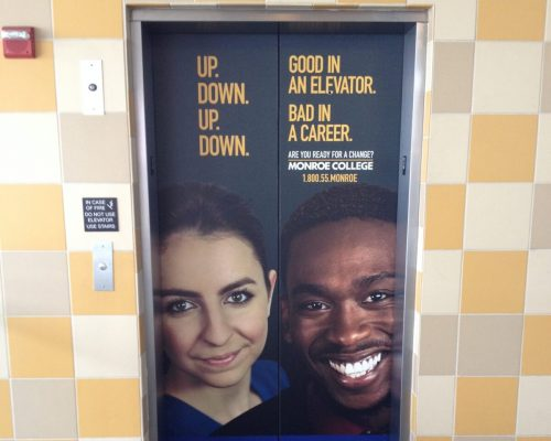 Ridge Hill Mall Elevator Wall Wrap Advertising