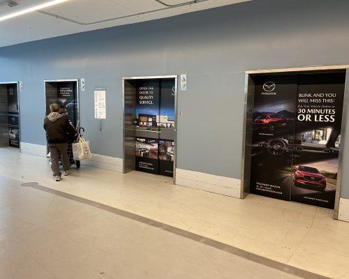 White Plains City Center Mall Elevator Wrap Advertising