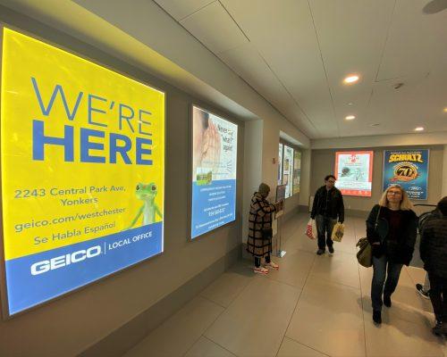 White Plains City Center Mall Large Lightbox Advertising
