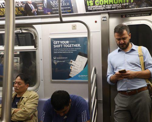 Subway Interior Advertising