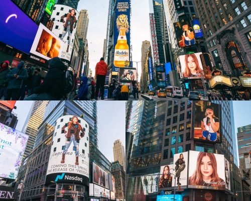 Angelina Bella Times Square Advertising