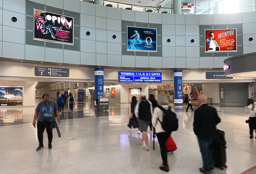Las Vegas Airport Digital Spectaculars