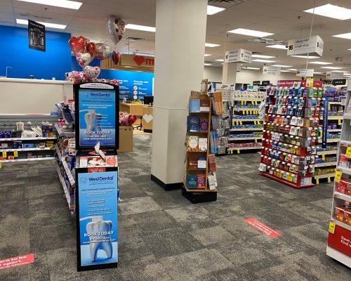 Pharmacy Sanitizing Kiosk Advertising