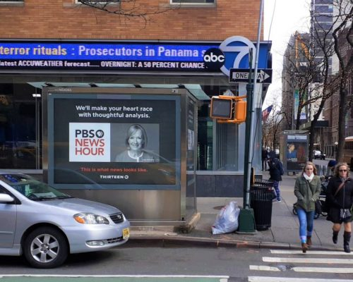 Newsstand Advertising WNET Campaign