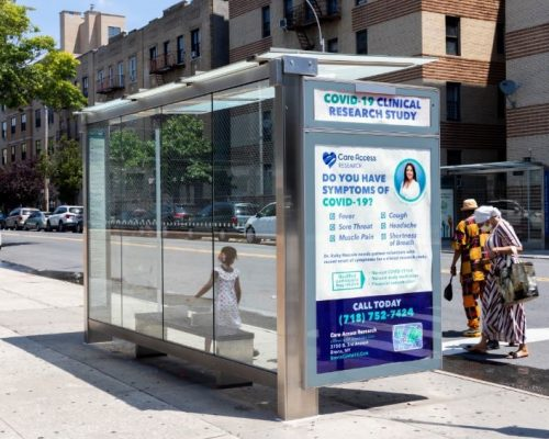 Care Access Research OOH Bronx Bus Shelter Advertising Campaign