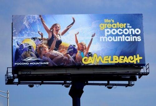 Pocono Travel Destination OOH Advertising